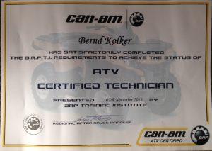 Canam ATV Certifizierter Techniker