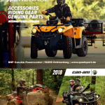 BRP Can-Am ATV QUAD Zubehoerkatalog 2018