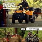BRP Can-Am ATV QUAD Zubehoerkatalog 2018